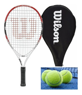 Kit Raqueta Wilson Federer 21 Kids Pelotas Outlet
