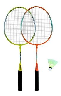 Kit Bádminton Sixzero Junior 2 Raquetas + 1 Pluma Junior