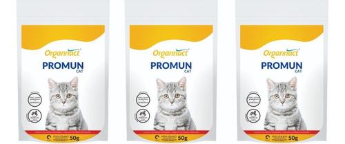 3 Promun Cat 50g Pó Organnact Pet Shop Store
