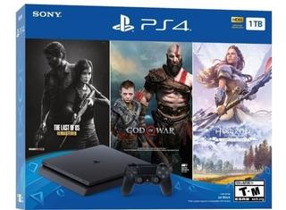 Consola Ps4 Slim 1.000gb + 3 Juegos Viernes Negro Envio Grat
