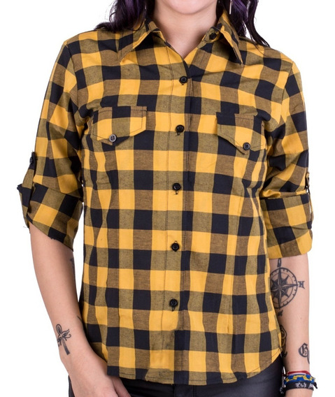 Camisa Escocesa Mujer Camisa Leñadora