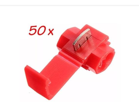 50pçs Conector Para Emenda Fios Vermelho 0,5 Até 1,5mm