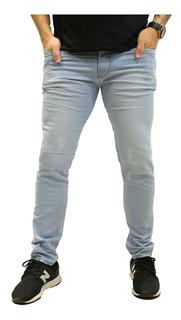 Calça Jeans Masculina Skinny Azul Claro *115