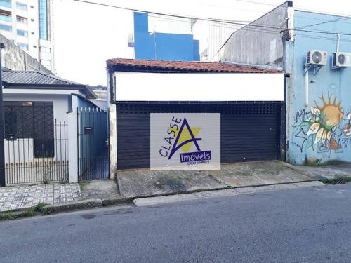 Imagem 1 de 4 de Salão Para Alugar, 73 M² Por R$ 1.800,00/mês - Casa Branca - Santo André/sp - Sl0070