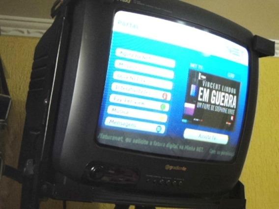 Tv 14 Polegadas, Gradiente, Tubo Com Suporte De Parede