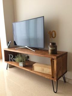 Mesa Tv 150 Cms Diseño Industrial - Repisa