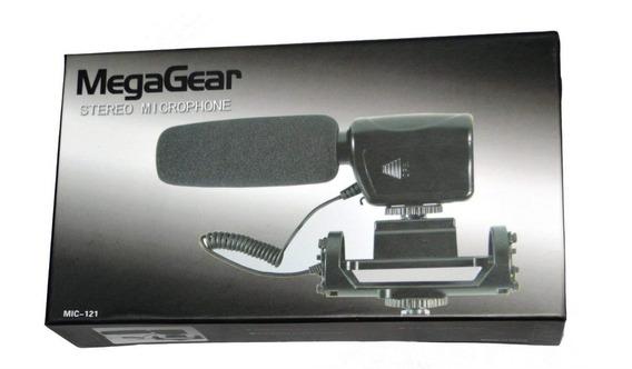 Megagear Microfone Profissional Stereo Para Cameras Dslr