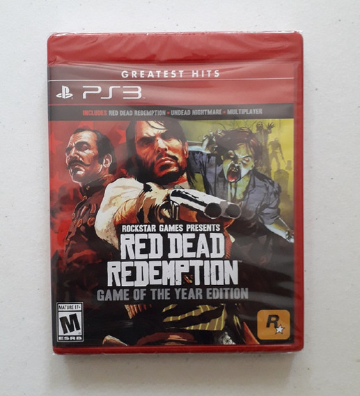Red Dead Redemption Game Of The Year Ps3 Mídia Física Novo
