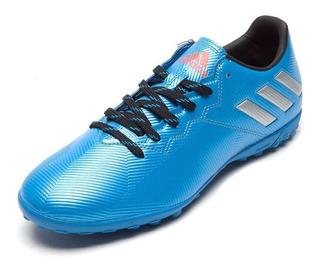 adidas Chuteira Messi 16.4 Society Azul Prata- Original - Fa