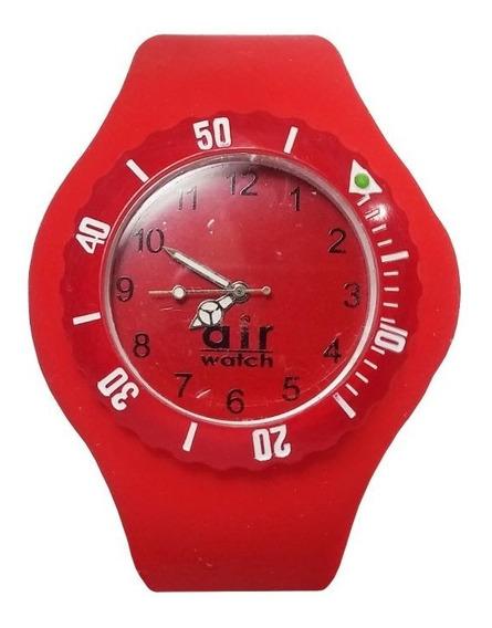 Relógio Pulso Air Watch Pulseira Silicone Vermelho M4