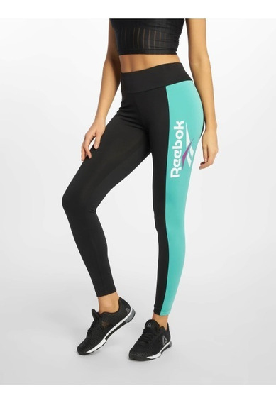 Leggins Reebok Wear Dx3797 Para Dama, Color Negro/azul