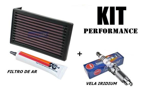 Kit Filtro De Ar K&n Kn E Vela Iridium Yamaha Xt600 Xt 600e