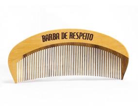Pente De Madeira Barba E Cabelo - Original Barba De Respeito