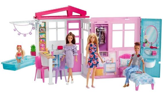 Casa Da Barbie Glam Completamente Mobiliada Com Boneca