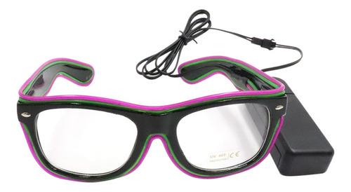 Imagen 1 de 6 de Gafas Led 20 Colores Opcionales Ilumina El Wire Gafas De