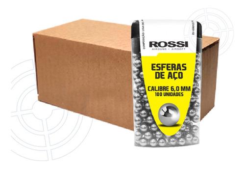 Imagem 1 de 4 de Kit Com 600 Esferas De Aço Rossi Para Pistola C11 6mm