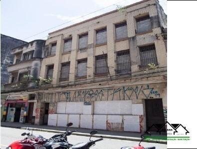Prédio Comercial 528,39m² Centro Histórico De Santos/sp - Abcm0039