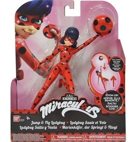 Boneca Miraculous Ladybug Em Ação Pula E Voa 20 Cm Sunny