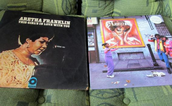Lote 2 Lp Aretha Franklin Jazz Blues 1970-1985 Um É Zerado