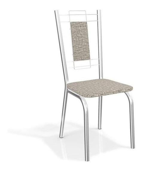 Conjunto 4 Cadeiras Florença Estrutura Cromada Kappesberg