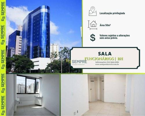 Imagem 1 de 18 de Sala Para Alugar, 50 M² E 01 Vaga - Funcionários - Belo Horizonte/mg - Sa0080