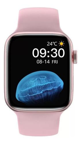 Imagem 1 de 5 de Relógio Inteligente Smartwatch Iwo Hw22 Pro Original Rosa