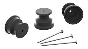 Isolador Roldana 30mm (preto)