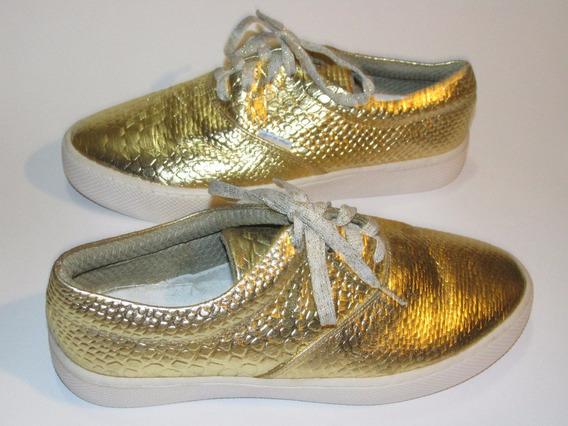 Zapato Mocasín Oxford En Cuero Para Mujer