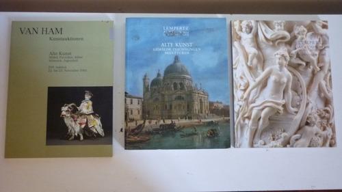 3 Catálogos De Remate Arte Europeo Antiguedades Pinturas
