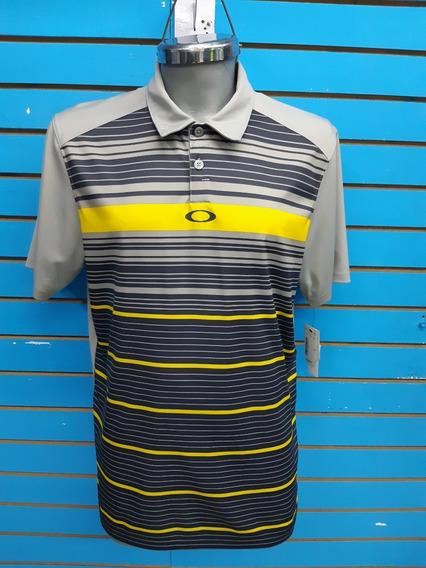 Camisa Polo Oakley M-mediana M/corta Caballero Nueva Original Saldo