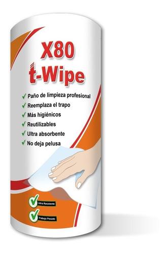Paños Limpieza T- Wipe X80 Reutilizables ( Similar Wypall)
