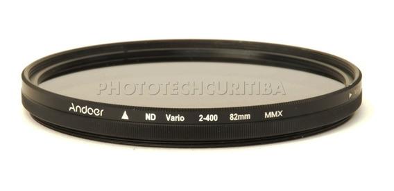 Filtro Densidade Neutra 82mm Nd Variavel Andoer Nd2-nd400