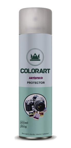 * Verniz Spray Colorart Protector Brilhante P Fotos Gravuras