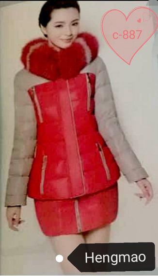 Casaca Y Abrigo Con Minifalda Modelo.nuevo