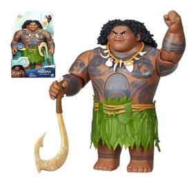Moana Boneco Maui Eletrônico Original Com Nota Fiscal Hasbro