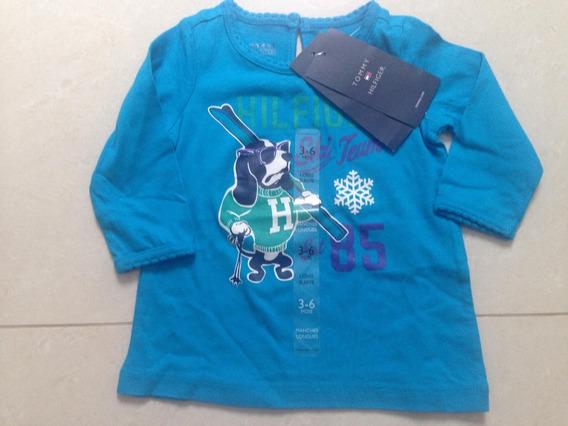 Blusa Infantil Tommy - Fem - Tam 3/6 Meses - Original!