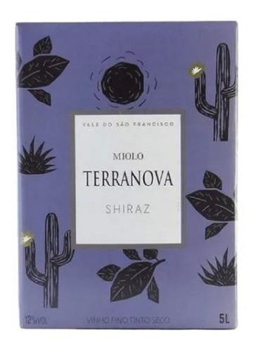 Imagem 1 de 3 de Vinho Tinto Miolo Terranova Shiraz Bag In Box - 5l