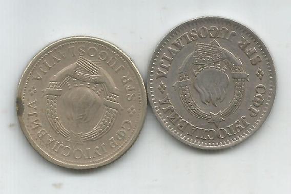 M 8204 Yugoslavia Lote 2 Monedas Un Dinar 68,75