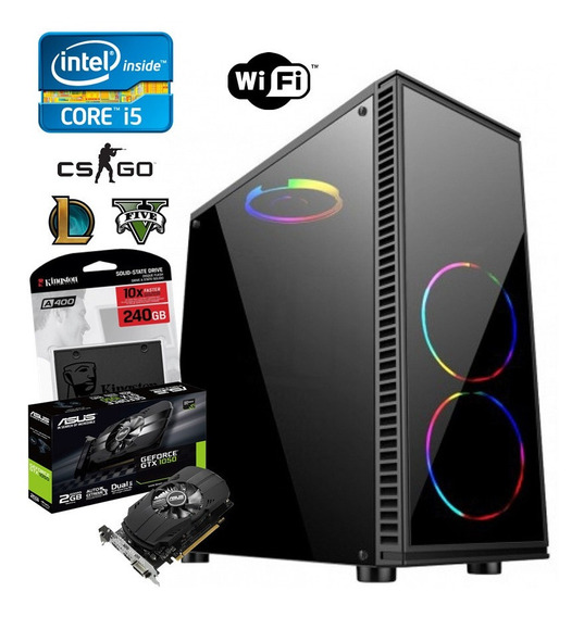 Pc Gamer Core I5 4570 + 16gb + Ssd 240gb + Hd 1tb + Gtx 1050