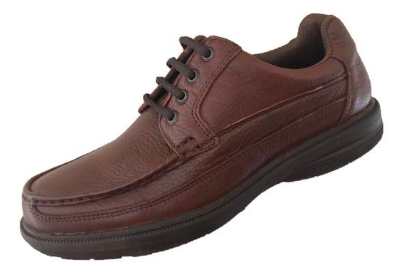 Zapato Casual Verde Tabaco Hombre Piel 3281 Mahogandy Cafe