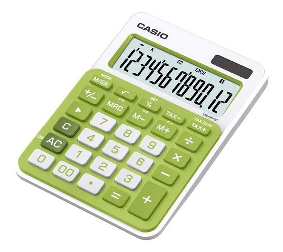 Calculadora Casio Modelo Ms 20 Nc De Mesa Solar