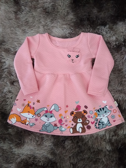 Vestido Infantil Menina Manga Longa Elian