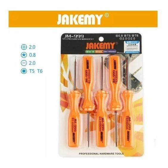 Jogo De Chave Reparo Celular Jakemy Jm-999 5 Em 1
