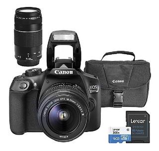 Cámara Canon Eos Rebel T6i + Lente 18-55mm + Memoria+maletin