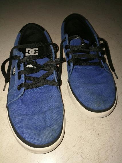 Zapatillas De Lona Dc Talle 35