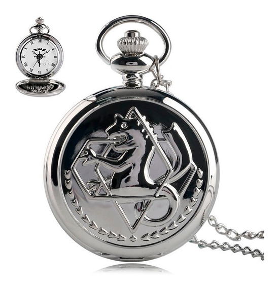 Reloj Full Metal Alchemist Envio Gratis Chico Espejo Cadena