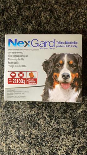 Nexgard 25-50 Kg Para El Control De Pulgas Y Garrapatas