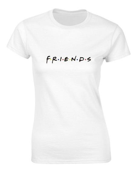 Playera Serie Tv Friends Blanca Mujer Hombre Envío Gratis!