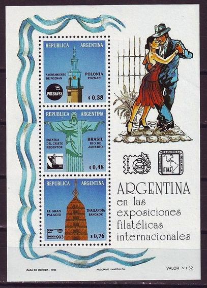 Argentina 1993 Exposicion Filatelica Tango Hb 104 Mint Usd 6