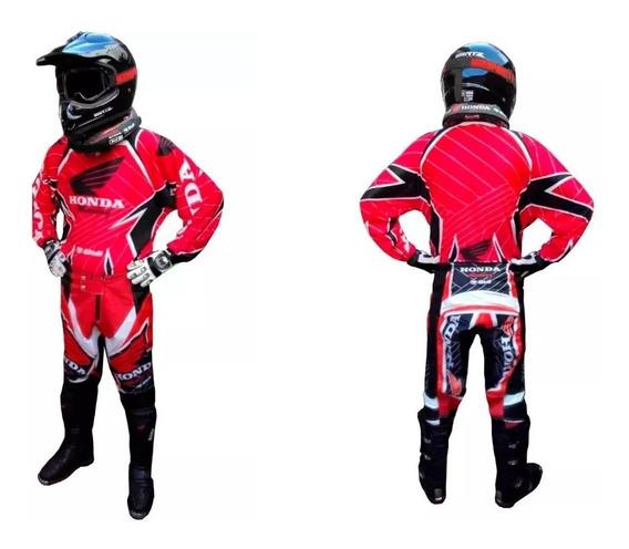 Conjunto Motocross Honda Pantalon Y Buzo 999 Motos
